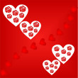 Valentines Day background with Hearts — Vector de stock