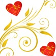 Stok Vektör: Valentines Day background with Hearts