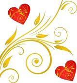 心とバレンタインの日の背景 — ストックベクタ