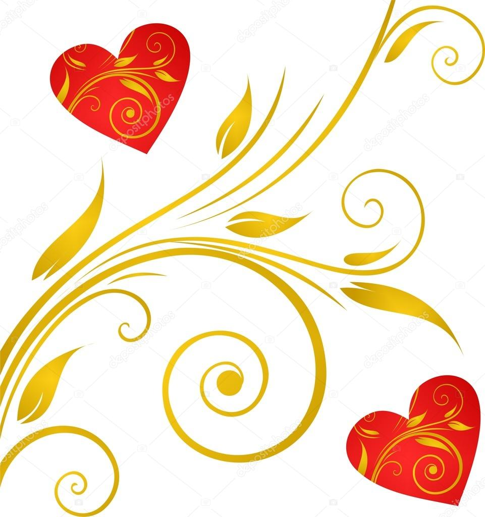 Valentines Day background with Hearts, element for design  Imagen vectorial #17886685