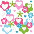 Valentines Day background with Hearts — Imagens vectoriais em stock