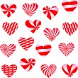 Valentines Day background with Hearts — Stock Vector