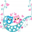 Baby shower greeting card,valentine's day card — 图库矢量图片