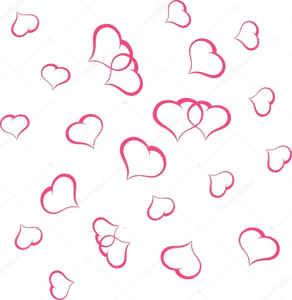 情人节背景与心向量图 — 图库矢量图片#18849405