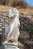 Marble statue in Ephesus, near Izmir, Turkey — Stock Photo