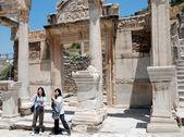 Temple of Hadrian, Ephesus, Turkey, — Stock Photo