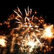 Fireworks on the sky  Abstract background - Stock Photo