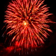 ストック写真: Red and black abstract background Fireworks on the sky