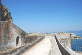 Pohled z pevnosti v kerkyra, korfu, řecko — Stock fotografie
