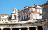 Corfu Old Town architecture - the palace of saint michael and saint georges — Stock Photo