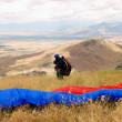 Stock Photo: Preparation before flight Paragliding in Macedonia