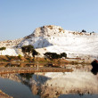 Landscape of Pamukkale, Turkey, — Stock Photo