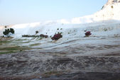 Detail of the landscape of Pamukkale — Stock Photo