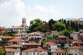 The old part of town Ohrid, Ohrid Lake, Macedonia — Stock Photo