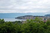 Panoráma města ohrid, makedonie — Stock fotografie