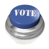 Blue button or switch with text VOTE — Stock Photo