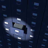 Spotlight on endless bureaucracy of archives — Stock Photo