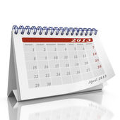 Desktop calendar with month April 2013 — Foto Stock
