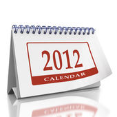 Calendar for year 2012 — Stock Photo