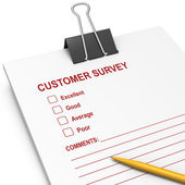 Customer Survey with bulldog clip — Stock Photo