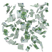 Background of flying Euro notes — Stock Photo