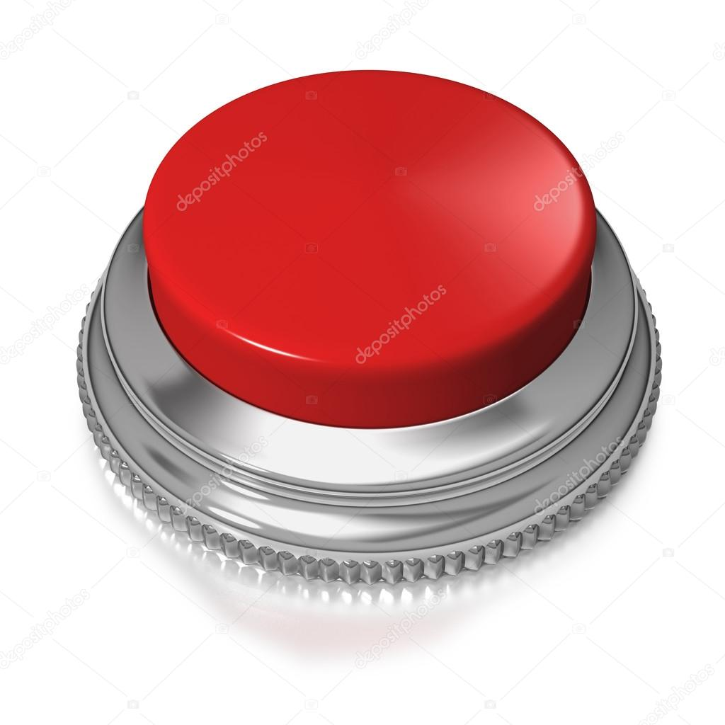 Red color button switch on white background — Stock Photo #12567739