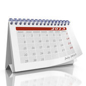 Desktop calendar with month July 2013 — Stock Photo