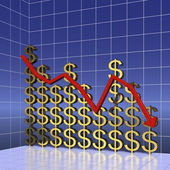Graph of world dollar trading — Stock Photo
