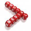 Royalty-Free Stock Photo: Social Media as text on red blocks
