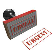 Rubber stamp with message of Urgent — Stock Photo