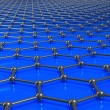 Graphene molecules forming a linked background - Stock Photo