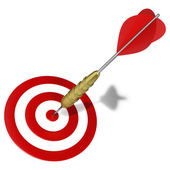 Graphic hitting the mark dart right on target — Stock Photo