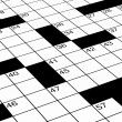 Detailed close up of crossword puzzle — Stock Photo
