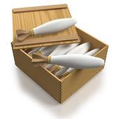 Retro samenstelling van open sigaret pakket — Stockfoto