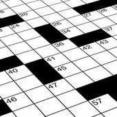 Gedetailleerde dicht omhoog van kruiswoordraadsel — Stockfoto