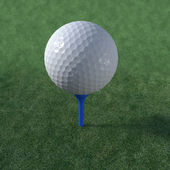 Golf ball teed up ready to play — Stock Photo