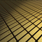 Gold bullion or ingots in extensive array — Stock Photo