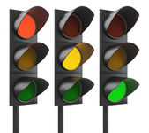 Yellow, green or red traffic light — Stock fotografie