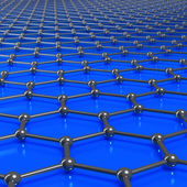 Graphene molecules forming a linked background with limited dept — Stock Photo