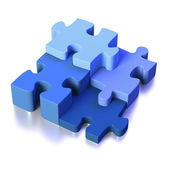Four parts of a puzzle or solution — Stock Photo