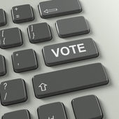 Keyboard with Vote concept text — Stock Photo