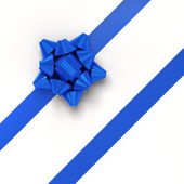 Blue gift ribbons in diagonal array — Stock Photo