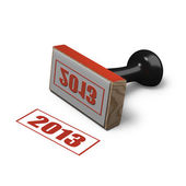 Rubber office stamp indicating year 2013 — Stock Photo