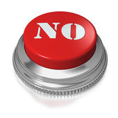 Button or switch with text NO — Stock Photo