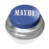 Button or switch with text MAYBE — Stock Photo