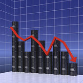 Graph of world oil trade — Stock Photo