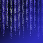Binary code on blue background — Stock Photo