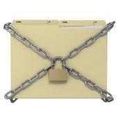 Symbolic locked manila office folder — Stock Photo