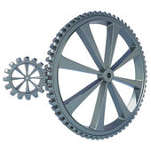 Two Gears on white background — Stock Photo