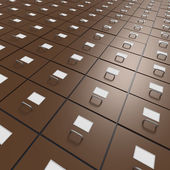 Extensive array of file drawers — Stock Photo